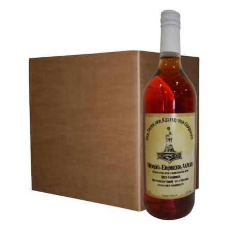Hydromel avec vin de fraise (12 bouteilles)