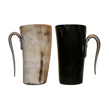goblet en corne avec anse, env. 15cm