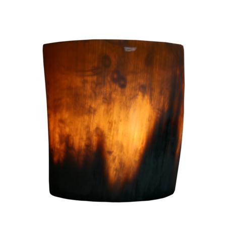 Photophore en corne, env. 9cm pour 2 bougies