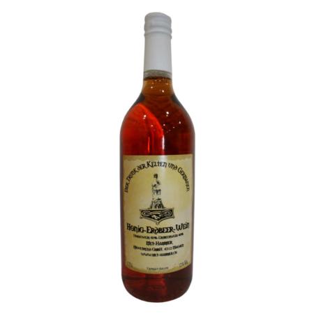 Hydromel avec vin de fraise