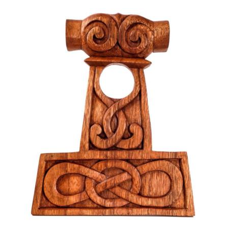 Porte – corne à boire en bois – marteau de thor