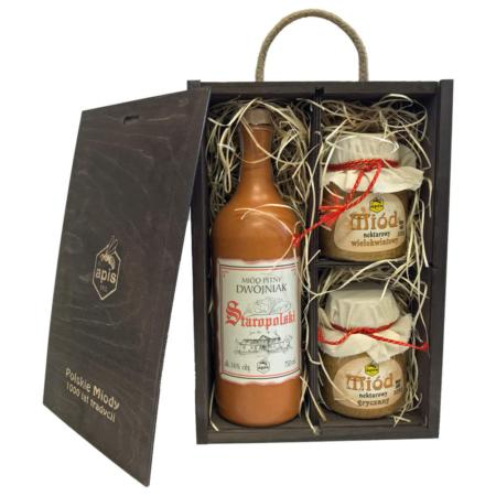Dwójniak Staropolski coffret cadeau plus miel
