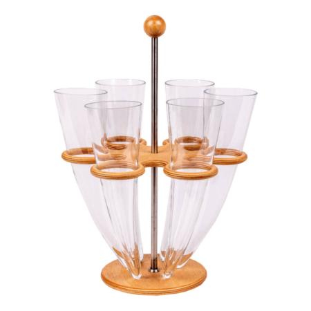 Cornes de verre (six)