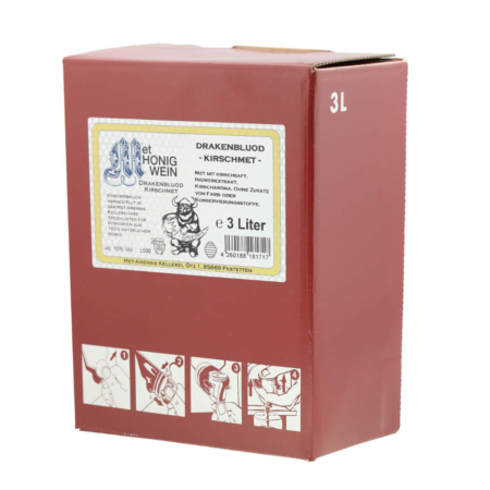 Amensis Hydromel - Cerise avec du gingembre, Bag-in-Box à 3 Litre